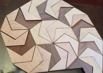 Spiraling pentagons