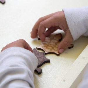 children's working turtle math puzzle